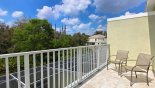 Private balcony to master bedroom from Eliora 2 Townhouse for rent in Orlando