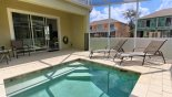 Townhouse rentals near Disney direct with owner, check out the View towards covered lanai