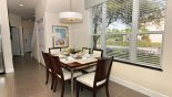 Townhouse rentals near Disney direct with owner, check out the Dining area with table & 6 chairs