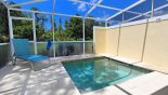 Pool deck with plunge pool & conservation views from Serenity / Retreat Silver Creek rental Townhouse direct from owner
