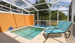 View of pool deck with plunge pool and open views with this Orlando Townhouse for rent direct from owner
