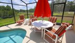 Pool deck furniture with this Orlando Villa for rent direct from owner