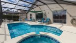 View of pool and spa with 6 sun loungers from Cape San Blas 6 Villa for rent in Orlando