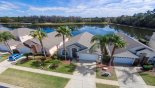 Spacious rental Lake Berkley Resort Villa in Orlando complete with stunning Aerial view of our villa with lake behind