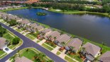 Aerial view of our villa with lake behind - www.iwantavilla.com is your first choice of Villa rentals in Orlando direct with owner