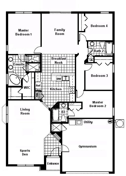 Cape San Blas 6 Floorplan