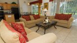 Orlando Villa for rent direct from owner, check out the Family room with 52