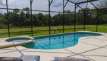 30' Pool & spa with great south facing pond and conservation woodland views from Grand Harbour 1 Villa for rent in Orlando