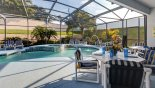 Villa rentals near Disney direct with owner, check out the Not overlooked 30' pool with 7 cushioned sun loungers. Sun all day!