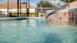 Spacious rental Calabay Parc at Tower Lake Villa in Orlando complete with stunning A swimmers eye view of the 30' long pool