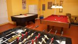 Orlando Villa for rent direct from owner, check out the Games room with pool table, air hockey & table foosball