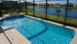 Large pool & spa with amazing lake views from Crescent Lakes rental Villa direct from owner
