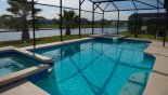 Pool with a spa and bonus kiddle pool - WOW from Longboat Key 4 Villa for rent in Orlando