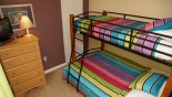 Bedroom 6 with twin over full size bunk bed with this Orlando Villa for rent direct from owner