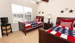 Twin bedroom #3 with flat screen TV from Windsor Hills Resort rental Villa direct from owner
