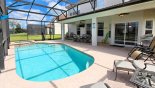 Pool/jacuzzi/lanai with TV and SONOS music system. from Brentwood 7 Villa for rent in Orlando