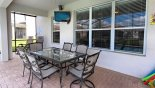 Villa rentals near Disney direct with owner, check out the Covered lanai with flat screen TV & SONOS sound system
