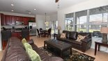Family room/kitchen with 55