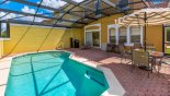 Pool deck with gas BBQ with this Orlando Townhouse for rent direct from owner