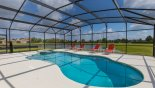 Sunny pool deck with splendid lake views from Coconut Palm 3 Villa for rent in Orlando