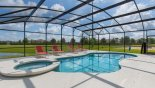 Villa rentals in Orlando, check out the Extended pool deck captures sun all day