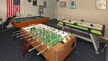 Games room with pool table, air hockey, table foosball & darts from Indian Point rental Villa direct from owner