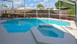 Villa rentals near Disney direct with owner, check out the West facing pool & spa photographed in the morning
