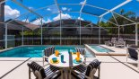 Pool deck with heated swimming pool & spa - www.iwantavilla.com is the best in Orlando vacation Villa rentals