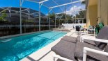 Spacious rental Indian Point Villa in Orlando complete with stunning High fencing to all 3 sides provides exceptional privacy