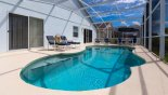 Pool deck with 4 sun loungers - www.iwantavilla.com is your first choice of Villa rentals in Orlando direct with owner