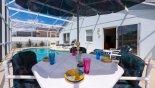 Alfresco dining is a delight - www.iwantavilla.com is the best in Orlando vacation Villa rentals
