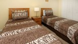 Twin bedroom 3 with this Orlando Villa for rent direct from owner