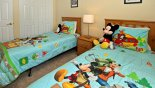 Villa rentals near Disney direct with owner, check out the Twin bedroom 5 with Disney theming