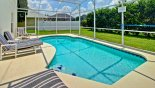 Very private sunny pool deck from Oak Island rental Villa direct from owner