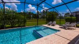 Villa rentals near Disney direct with owner, check out the Large sunny pool deck with childens pool and  4 sun loungers