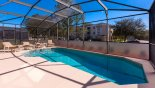 Large south facing pool with 4 sun loungers - www.iwantavilla.com is your first choice of Villa rentals in Orlando direct with owner