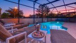 Orlando Villa for rent direct from owner, check out the Chill out on the deck at twilight or swim in the pool with  underwater lighting