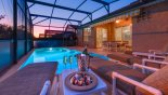 Enjoy a sultry evening on the deck as darkness falls with this Orlando Villa for rent direct from owner