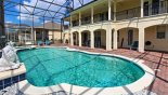 Large pool with views onto full width covered lanai with this Orlando Villa for rent direct from owner