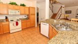 Fully heated kitchen with granite counter tops from Highlands Reserve rental Villa direct from owner