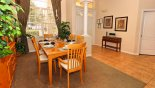Dining area off entrance foyer seating 6 persons from Northampton 2 Villa for rent in Orlando