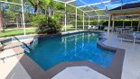 Pool deck with views onto golf course through trees - www.iwantavilla.com is your first choice of Villa rentals in Orlando direct with owner
