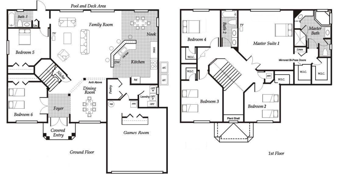 Santa Barbara 4 Floorplan