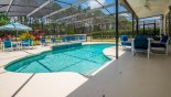 Hedging to both side provides privacy to the pool deck - www.iwantavilla.com is the best in Orlando vacation Villa rentals