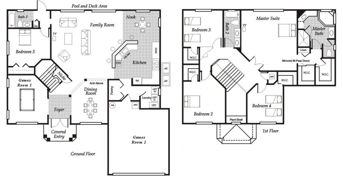 Santa Barbara 5 Floorplan
