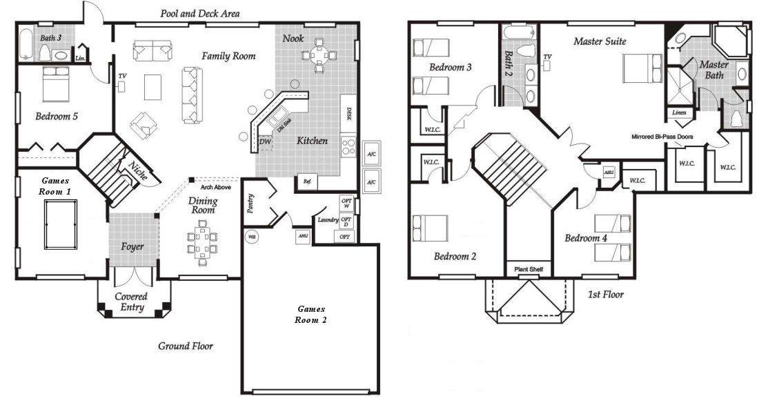 Santa Barbara 5 Floorplan