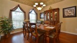 Dining room with table & 6 chairs from Highlands Reserve rental Villa direct from owner