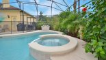 Wellesley 8 Villa rental near Disney with View of spa & gas BBQ outside pool bath door
