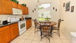 Villa rentals in Orlando, check out the Fully fitted kitchen with breakfast nook seating 4
