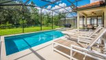 Pool with 4 sun loungers with this Orlando Villa for rent direct from owner